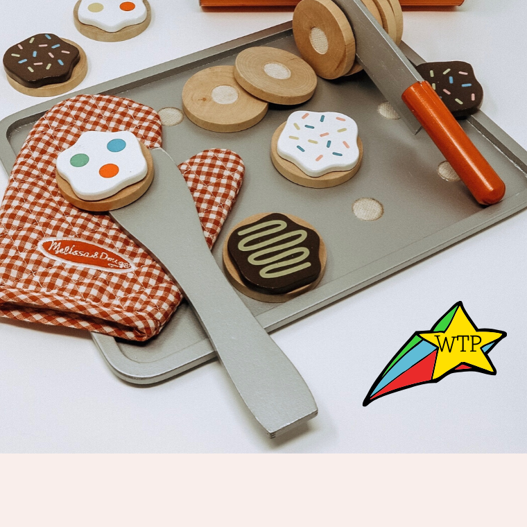 Melissa and Doug Slice and Bake Wooden Cookie Play Food Set