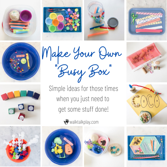 Make Your Own Busy Box to Encourage Independent Play