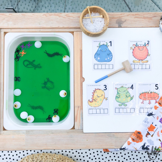 Monster Learning Activities for Preschoolers | Diving Into the KidsPlayTricks Monster Unit!