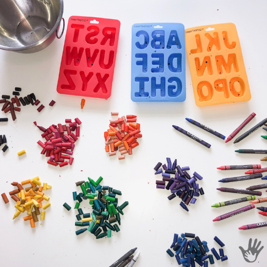Fine Motor Skill Practice with ABC Crayons